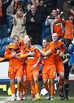 Jonny Russell takes the acclaim as he scores goal no 2 for Dundee Utd