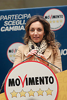 Maria Domenica Castellone<br /> Roma 29/01/2018. Presentazione dei candidati nelle liste uninominali del Movimento 5 Stelle.<br /> Rome January 29th 2018. Presentation of the candidates for Movement 5 Stars.<br /> Foto Samantha Zucchi Insidefoto