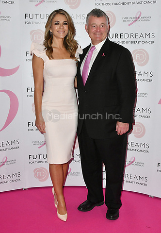 Elizabeth Hurley, William P. Lauder<br /> Future Dreams Ladies Lunch, United for Her, Breast cancer charity's annual lunch to raise funds for further research and new treatments. Held at The Savoy Hotel, London, England on October 09, 2017.<br /> CAP/JOR<br /> &copy;JOR/Capital Pictures /MediaPunch ***NORTH AND SOUTH AMERICAS ONLY***