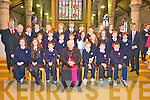 Students from Caherleaheen NS who were confirmed by Bishop Bill Murphy at Saint Johns Church, Tralee on Friday..Front Row : Emma Sheehy, Caitlin McConnell, Ronan Dalton, Bishop Bill Murphy, Diarmuid Murphy, Shane Costello, Dion O Keeffe.Middle : Fr Gerard Finucane, Edward Moynihan, Tomas Sheehy, Danny Dennehy, Conor Murphy, Claire Conway, Leona o Shea, Ciara Drinan, christopher Lowe, Micheal Shanahan.Back row : Donal o Connor (Principal), Daniel Carton, Rory Rutledge, Dylan o Sullivan, Eoghan o Buachalla, Cian Talbot, Richard o Shea, Alan Dore, Eimear Brosnan, Maebh Pierce, Dylan Sheehy, Paul Daly (teacher)