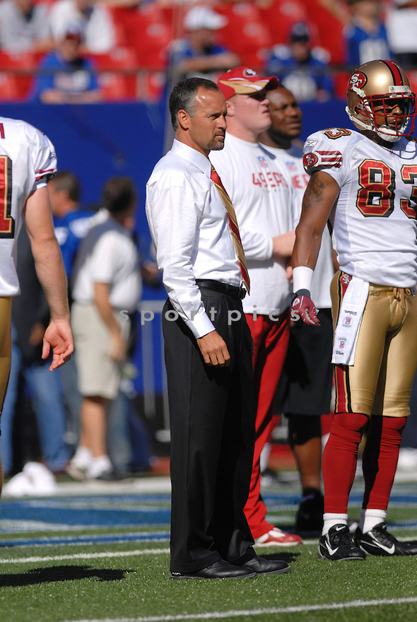 MIKE NOLAN, of the San Francisco 49ers  in action during the 49ers game against the New York Giants on October 21, 2007 in Meadowlands, New Jersey...GIANTS win 33-15..SportPics