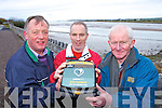 Pictured at Blennerville on Thursday with a life saving defibrillator are l-r: William Dore, Maurice Hannafin and P.J Higgins, Tralee.