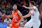 Real Madrid's Luka Doncic and Valencia Basket's Antoine Diot during 2017 King's Cup match between Real Madrid and Valencia Basket at Fernando Buesa Arena in Vitoria, Spain. February 19, 2017. (ALTERPHOTOS/BorjaB.Hojas)