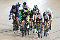 Alysha Keith (L) of Otago, Lauren Ellis of Mid South Canterbury and Rushlee Buchanan of Waikato BOP lead out front in the Elite Women Omnium 3 , Elimination race,  at the Age Group Track National Championships, Avantidrome, Home of Cycling, Cambridge, New Zealand, Sunday, March 19, 2017. Mandatory Credit: © Dianne Manson/CyclingNZ  **NO ARCHIVING**