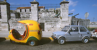 12 FEB 2003 - HAVANA, CUBA - One of Cubas cocotaxis awaits a fare (PHOTO (C) NIGEL FARROW)