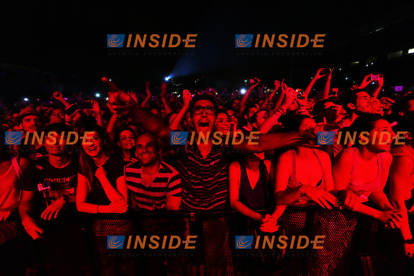 Roma 29/07/2013 Ippodromo Delle Capannelle. People attend Blur concert at ippodromo delle Capannelle during the Rock In Roma festival 2013.<br /> Photo Mark Cape Insidefoto