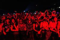 Roma 29/07/2013 Ippodromo Delle Capannelle. People attend Blur concert at ippodromo delle Capannelle during the Rock In Roma festival 2013.<br /> Photo Mark Cape Insidefoto