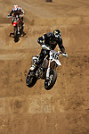 Carey Hart (46) competes during the Moto X Super Moto final during X-Games 12 in Los Angeles, California on August 6, 2006.