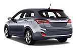 Car pictures of rear three quarter view of 2015 Hyundai I30 Go 5 Door Wagon Angular Rear
