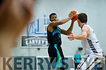Jordan Evans Garveys Tralee Warriors in action against GS Swords Thunder at the Tralee Sports Complex on Saturday night.