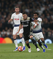 Dusan Tadic of Ajax and Tottenham Hotspur's Danny Rose<br /> <br /> Photographer Rob Newell/CameraSport<br /> <br /> UEFA Champions League - Tottenham Hotspur v Ajax - Tuesday 30th April 2019 - White Hart Lane - London<br />  <br /> World Copyright © 2018 CameraSport. All rights reserved. 43 Linden Ave. Countesthorpe. Leicester. England. LE8 5PG - Tel: +44 (0) 116 277 4147 - admin@camerasport.com - www.camerasport.com
