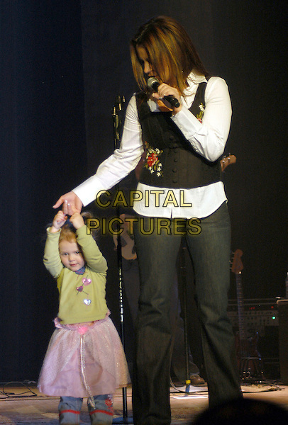 AUDREY & SARA EVANS.Sara Evans' daughter Audrey, age 2.Sara Evans performs at Capital Music Hall,.Wheeling, West Virginia, USA, 17 February 2007..full length child kid on stage concert mother mom .CAP/ADM/KB.©Kelly Belcher/AdMedia/Capital Pictures.