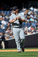 Apr 03, 2011; Bronx, NY, USA; Detroit Tigers pitcher Phil Coke (40) during game against the New York Yankees at Yankee Stadium. Tigers defeated the Yankees 10-7. Mandatory Credit: Tomasso De Rosa
