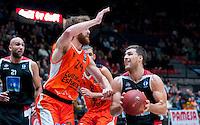 VALENCIA, SPAIN - 16/12/2015. Valencia Basket vs Spirou Charleroi. Pabellon Fuente de San Luis, Valencia, Spain.