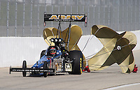Nov 14, 2010; Pomona, CA, USA; NHRA top fuel dragster driver Tony Schumacher during the Auto Club Finals at Auto Club Raceway at Pomona. Mandatory Credit: Mark J. Rebilas-
