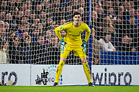 Chelsea's Thibaut Courtois <br /> <br /> Photographer Craig Mercer/CameraSport<br /> <br /> The Carabao Cup - Semi-Final 1st Leg - Chelsea v Arsenal - Wednesday 10th January 2018 - Stamford Bridge - London<br />  <br /> World Copyright &copy; 2018 CameraSport. All rights reserved. 43 Linden Ave. Countesthorpe. Leicester. England. LE8 5PG - Tel: +44 (0) 116 277 4147 - admin@camerasport.com - www.camerasport.com