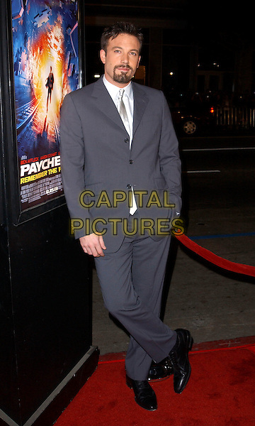 BEN AFFLECK.L.A. Premiere of Paycheck held at The Graumann's Chinese Theatre in Hollywood .18 December 2003 .*UK Sales Only*.full length, full-length                                                    .www.capitalpictures.com.sales@capitalpictures.com.©Capital Pictures.