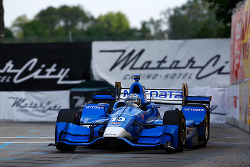 Verizon IndyCar Series<br /> Chevrolet Detroit Grand Prix Race 2<br /> Raceway at Belle Isle Park, Detroit, MI USA<br /> Sunday 4 June 2017<br /> Tony Kanaan, Chip Ganassi Racing Teams Honda<br /> World Copyright: Phillip Abbott<br /> LAT Images<br /> ref: Digital Image abbott_detroit_0617_8253