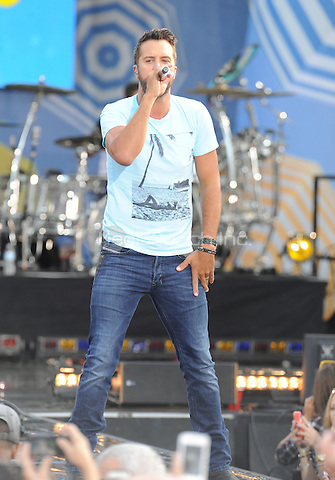 New York, NY- August 8: Luke Bryan performs in Central Park at Rumsey Playfield as part of the GMA 2014 Summer Concert Series  on August 8, 2014 in New York City. Credit: John Palmer/MediaPunch