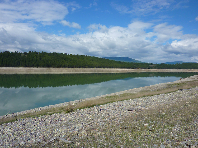 Kootenay River, British Columbia before spring melt