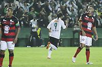 CURITIBA, PR, 23 DE MAIO DE 2012 – CORITIBA X VITÓRIA – Everton Costa (9), comemora o gol de empate Coxa Branca durante partida contra o Vitória válida pelas quartas de finais da Copa do Brasil. O jogo aconteceu na noite de quarta-feira (23), no Couto Pereira. (FOTO: ROBERTO DZIURA JR./ BRAZIL PHOTO PRESS)