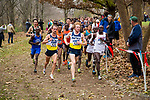 LOUISVILLE, KY - NOVEMBER 18: Matthew Baxter #426 and Tyler Day #429, both of Northern Arizona University, and Gilbert Kigen #30 of the University of Alabama lead runners during the Division I Men's Cross Country Championship held at E.P. Tom Sawyer Park on November 18, 2017 in Louisville, Kentucky. (Photo by Tim Nwachukwu/NCAA Photos via Getty Images)