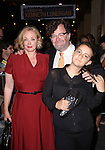 J. Smith-Cameron, Kenneth Lonergan and daughter Nellie leaving the stage door after the opening night performance of 'This Is Our Youth' at the Cort Theatre on September 11, 2014 in New York City.