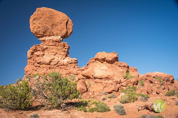 Arches National Park. Utah. Balanced Rock. Natural wonder
