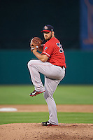 Louisville Bats relief pitcher JJ Hoover (36) delivers a pitch during a game against the Syracuse Chiefs on June 6, 2016 at NBT Bank Stadium in Syracuse, New York.  Syracuse defeated Louisville 3-1.  (Mike Janes/Four Seam Images)