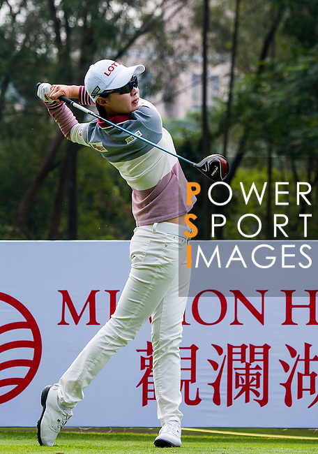 Hyo-Joo Kim of Korea in action during the Hyundai China Ladies Open 2014 Pro-am on December 10 2014 at Mission Hills Shenzhen, in Shenzhen, China. Photo by Xaume Olleros / Power Sport Images
