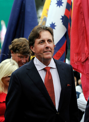 7th October 2009: United States Team member Phil Mickelson during the Opening Cermony for the President's Cup 2009 at Harding Park Golf Course, San Francisco, California. (Photo by Bob Stanton/ActionPlus). UK Licenses Only
