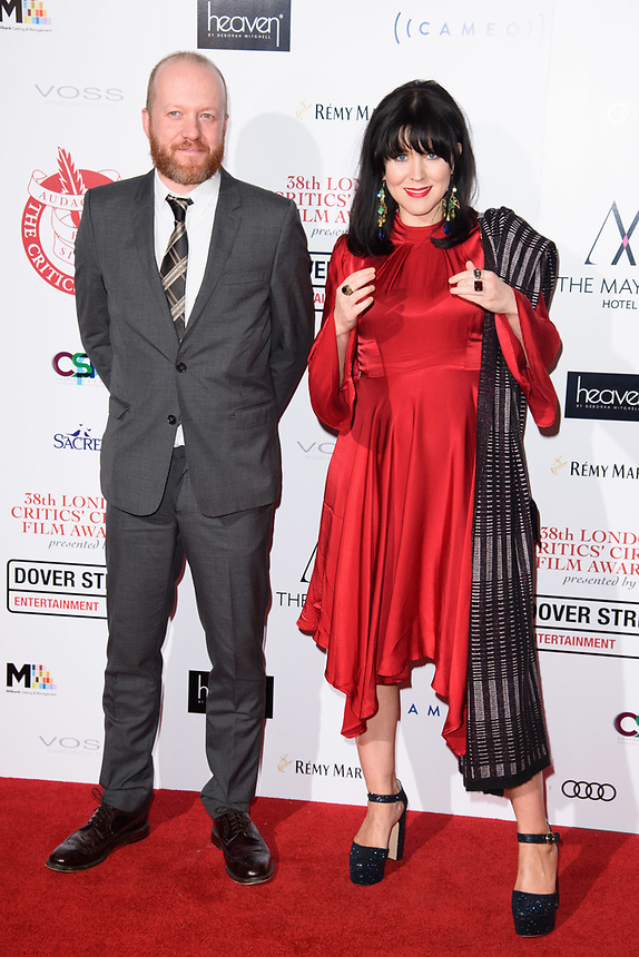 Teve Oram and Alice Lowe<br /> arriving for the Critic's Circle Film Awards 2018, Mayfair Hotel, London<br /> <br /> <br /> ©Ash Knotek  D3374  28/01/2018