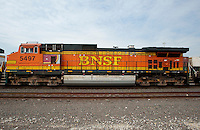 Trains at Burlington Northern Santa Fe Corp. in Fort Worth, Texas, Thursday, March 31, 2011. ..Photo by Matt Nager