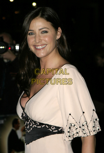 LISA SNOWDON.De-Lovely Charity Premiere, empire Leicester Square, London, September 29th 2004..half length black and white cream twenties style art deco top black trousers .Ref: AH.www.capitalpictures.com.sales@capitalpictures.com.©Capital Pictures.