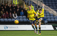 Chris Maguire of Oxford United fires a shot at goal during the Sky Bet League 2 match between Oxford United and Northampton Town at the Kassam Stadium, Oxford, England on 16 February 2016. Photo by Andy Rowland.