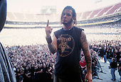 Pantera - vocalist Phil Anselmo - performing live on the Main Stage at the 1997 Ozzfest held at Gians Stadium in East Rutheford NJ USA - Jun 15,1997.  Photo credit: Eddie Malluk/IconicPix
