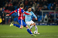 Manchester City's Ilkay Gundogan in action <br /> <br /> Photographer Craig Mercer/CameraSport<br /> <br /> UEFA Champions League Round of 16 First Leg - Basel v Manchester City - Tuesday 13th February 2018 - St Jakob-Park - Basel<br />  <br /> World Copyright &copy; 2018 CameraSport. All rights reserved. 43 Linden Ave. Countesthorpe. Leicester. England. LE8 5PG - Tel: +44 (0) 116 277 4147 - admin@camerasport.com - www.camerasport.com