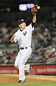 Masahiro Tanaka (Yankees), APRIL 9, 2014 - MLB : New York Yankees starting pitcher Masahiro Tanaka catches a ball during the MLB game between the New York Yankees and the Baltimore Orioles at Yankee Stadium in The Bronx, New York, United States. (Photo by AFLO)