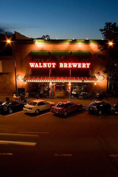 Walnut Brewery at night, Boulder, Colorado John offers private photo tours of Boulder, Denver and Rocky Mountain National Park.