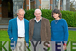 LECTURE: Tom and Benita Denny with historian Maurice O'Keeffe at Collis Sands House, Tralee on Saturday.