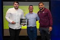 Pictured: Cameron Carter-Vickers of Swansea City during the Swans Community Trust awards dinner at the liberty stadium in Swansea, Wales, UK <br /> Thursday 02 April 2019