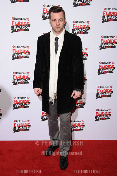 Gethin Anthony arriving for the Empire Awards 2018 at the Roundhouse, Camden, London, UK. <br /> 18 March  2018<br /> Picture: Steve Vas/Featureflash/SilverHub 0208 004 5359 sales@silverhubmedia.com