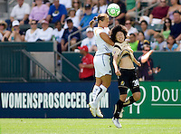 LA Sol defender Manya Makoski and FC Gold Pride forward Erika Arakawa battle. The LA Sol defeated FC Gold Pride of the Bay Area 1-0 at Home Depot Center stadium in Carson, California on Sunday April 19, 2009.  ..  .