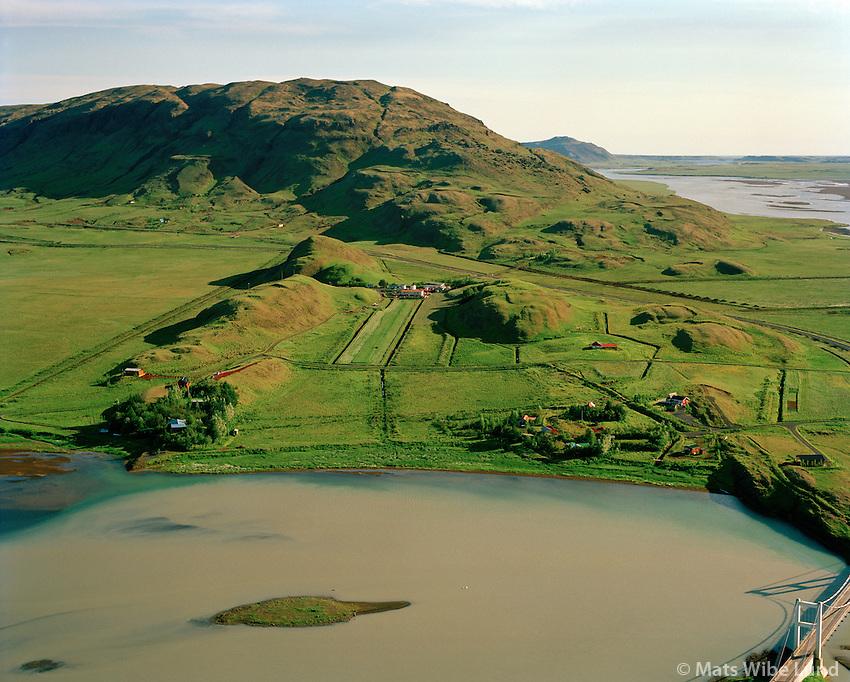 Iða séð til suðurs, Hvítá, Vörðufell, Bláskógabyggð áður Biskupstungnahreppur / Ida viewing south, river Hvita, mount Vordufell, Blaskogabyggd former Biskupstungnahreppur.