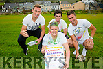 The South Kerry Colour Scramble will take place on Saturday 29th from the Con Keating Park in Cahersiveen with funds raised going to local charities including Valentia Hospital and Kerry Lourdes Group 135 pictured here front Aoife Daly, back l-r; Pauly O'Donoghue, Sean Cournane & Daniel Daly.