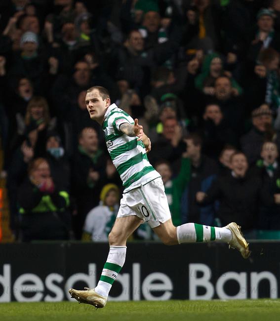 Anthony Stokes celebrates his goal