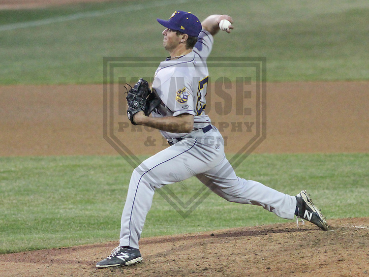 APPLETON - April 2015:  Burlington Bees pitcher Jake Jewell (27) during a  game against the Wisconsin Timber Rattlers on April 16th, 2015 at Fox Cities Stadium in Appleton, Wisconsin. (Photo Credit: Brad Krause)