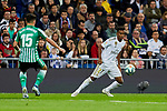 Rodrygo Goes of Real Madrid and Alex Moreno of Real Betis Balompie during La Liga match between Real Madrid and Real Betis Balompie at Santiago Bernabeu Stadium in Madrid, Spain. November 02, 2019. (ALTERPHOTOS/A. Perez Meca)
