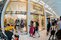 The Kate Spade store in the World Trade Center Transportation Hub, known as the Oculus, on Tuesday, August 16, 2016 during the grand opening of the retail spaces. The 350,000 square foot retail space will feature over 100 stores when they all open, including a now opened Apple Store. The mall opens almost 15 years after the World Trade Center terrorist attack.  (© Richard B. Levine)