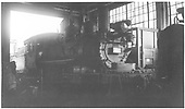 3/4 engineer's-side view of D&amp;RGW #360 inside engine house at Salida.<br /> D&amp;RGW  Salida, CO  1945
